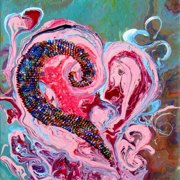 Beautiful Abstract Art of Heart for Valentine Gift,