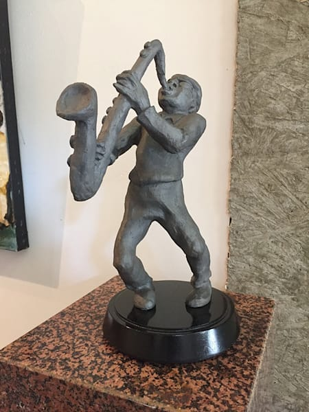 The Jazz Player, by Bryan Massey, Sr at Matt McLeod Fine Art Gallery