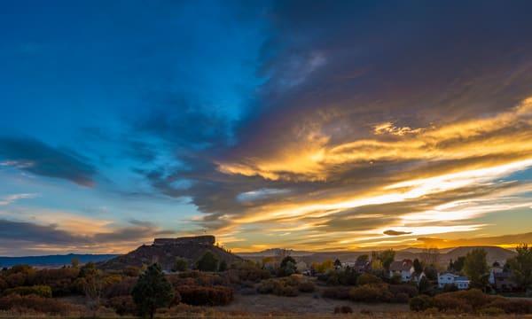 Autumn Photo of Castle Rock Colorado at Sunset