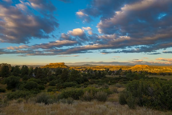 Early Morning Photo of Castle Rock Colorado in Autumn
