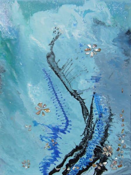 Abstract Blue Ocean Wave Art/En Chuen Soo Fine Art