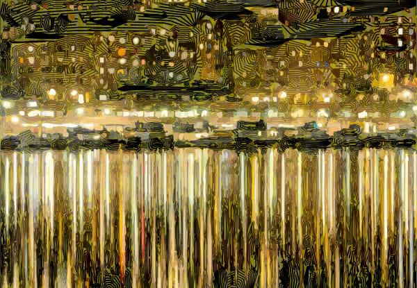 Abstract art you'll just love! Stockholm Night Wall Art & photographs by algorithmic artist peter McClard.