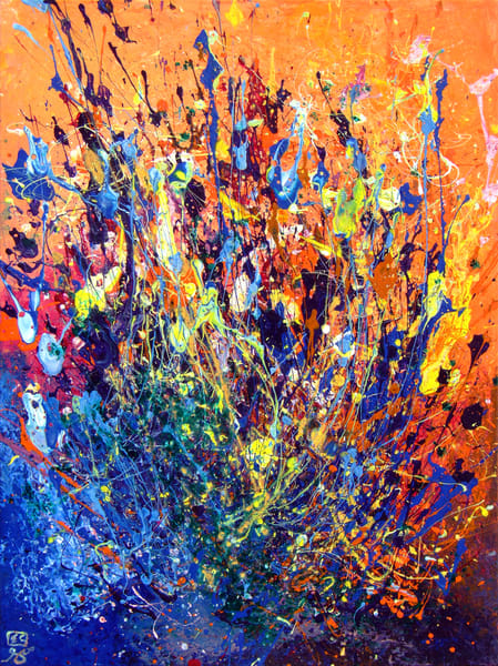 Abstract Desert Wildflowers Art #1
