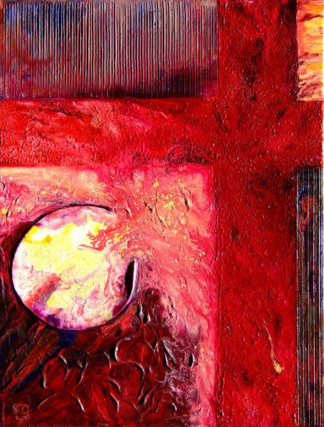 Abstract Acrylic Painting - Broken Vessel