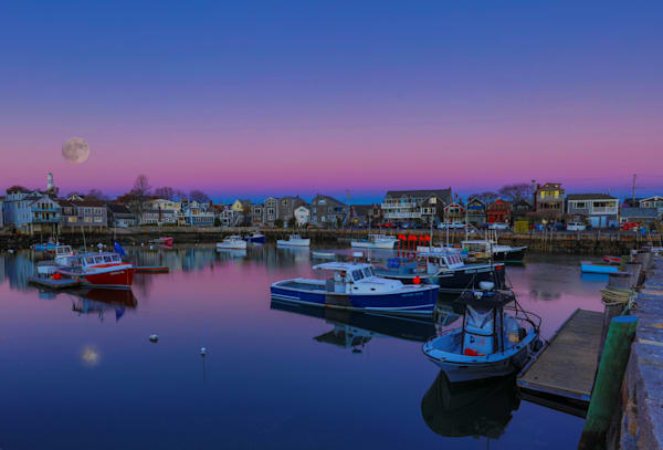 Rockport Mass Super Moon Photography Art | John Martell Photography