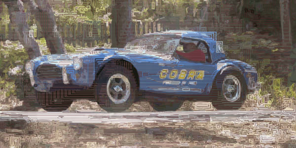 Algorithmic Automobile art & photographs prints & originals by Neo Impressionist Peter McClard
