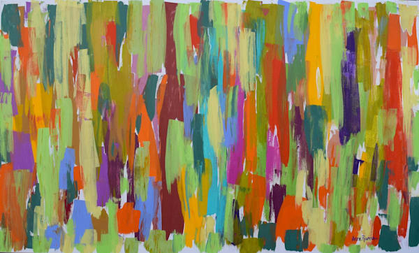 The Grass is Greener, acrylic on canvas, original abstract art paintings for sale/Peachtree City, GA