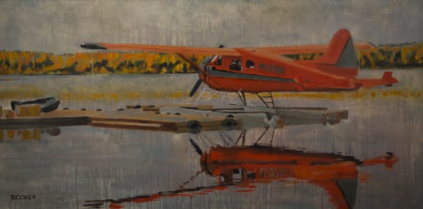 Alaskan Floatplane, Landscape, Booker Tueller, seaside, art, paintings