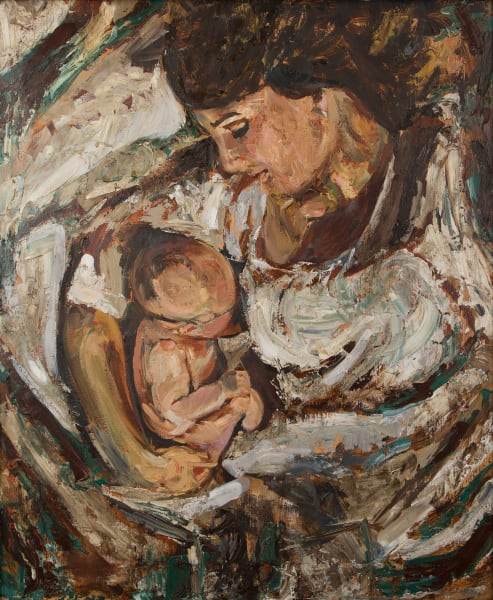 Mother and Child, Booker Tueller, Figurative, special edition, art, paintings