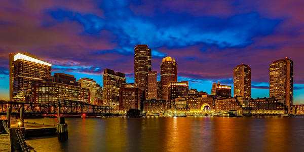 Boston Skyline 4 Photography Art | John Martell Photography
