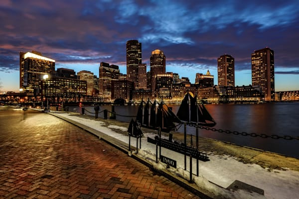 Boston Skyline 3 Photography Art | John Martell Photography
