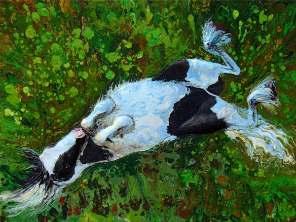 Ollie - Original Horse Art, Abstract Acrylic Relief Painting Of Horse