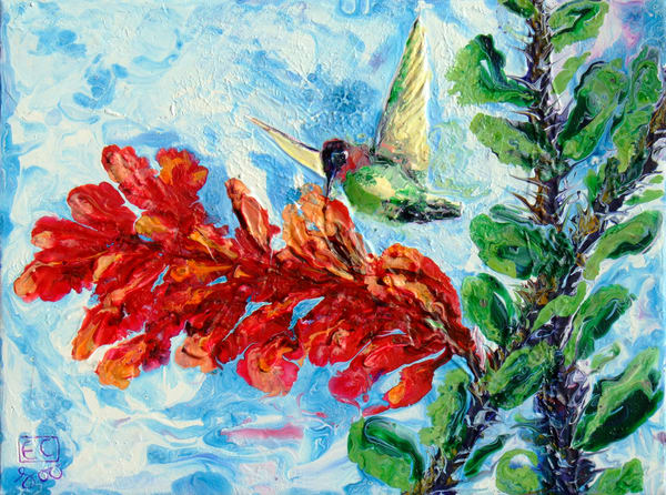 Abstract Hummingbird Art - Return of The Spring #6