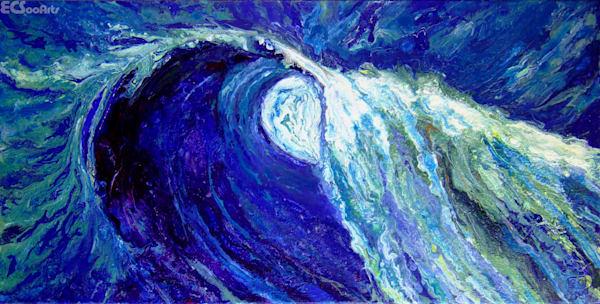 Wave #2, Abstract Acrylic Ocean Art