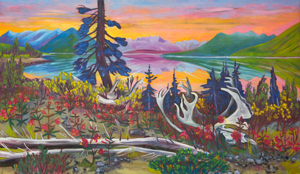 Bennet Lake Beauty | Original Oil Painting | Emma Barr Fine Art