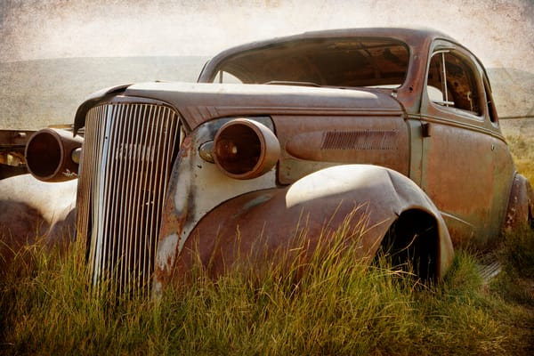 Bodie Junkyard Chevy Art by blacksgallery.ca