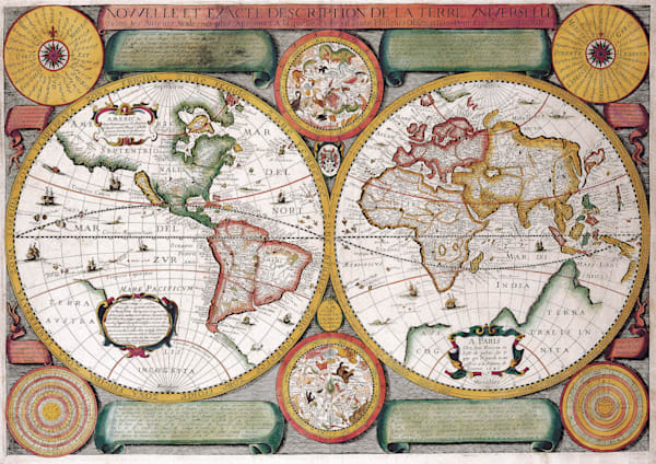 Antique Maps of the World Map of the World Jean Boisseau c 1646