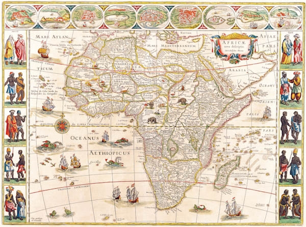 Antique Maps of the World Map of Africa Willem Blaeu c 1640
