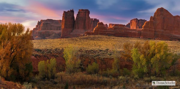 A beautiful Utah landscape from Arches National park/Courthouse Wash available as fine art prints