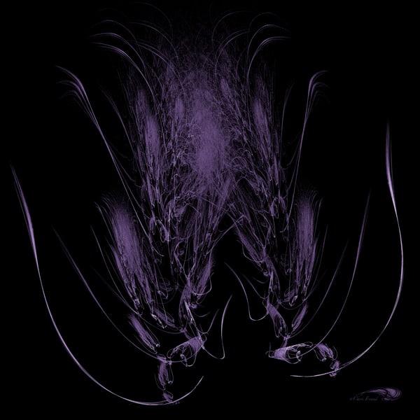 Feather Bloom purple tulip digital art by Cheri Freund