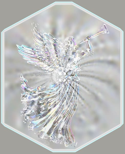 Angel Glass Vortex digital art by Cheri Freund