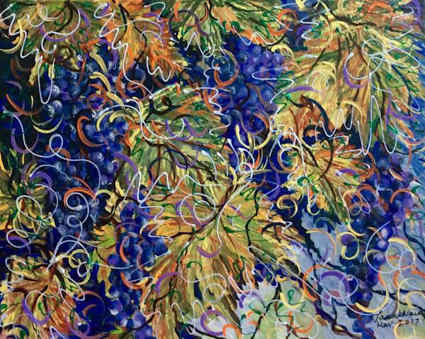 botanical, vineyard, grapes, pattern, mosaic, fruit