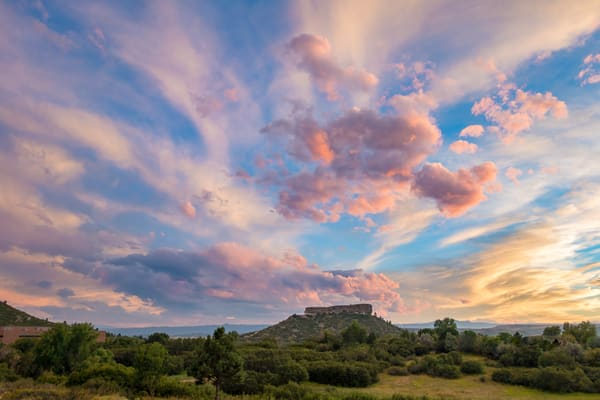 """Sunset Photograph of the """"Rock"""" in Castle Rock Colorado"""