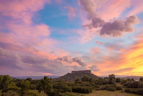 Photo of Castle Rock Colorado Beautiful Golden Sunset