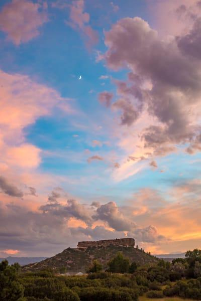 "Vertical Sunset Photo of the ""Rock"" Castle Rock Colorado"