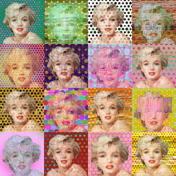 Marilyn Monroe, Marilyn Monroe art by Peter McClard at VectorArtLabs.com