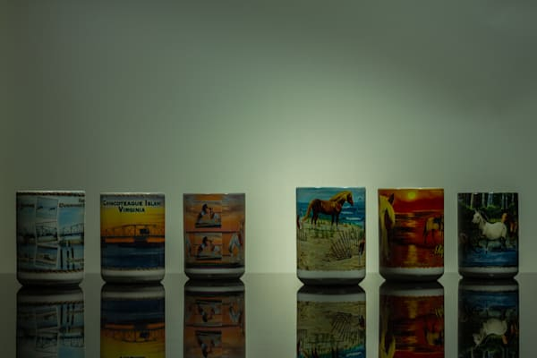 A Fine Art Photograph About Chincoteague Mug Reflections by Michael Pucciarelli