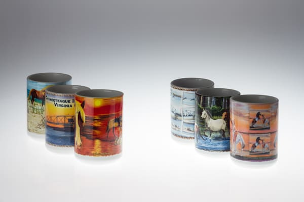 Pony Penning Mugs Of Chincoteague Art | http://www.michaelpucciarelli.com