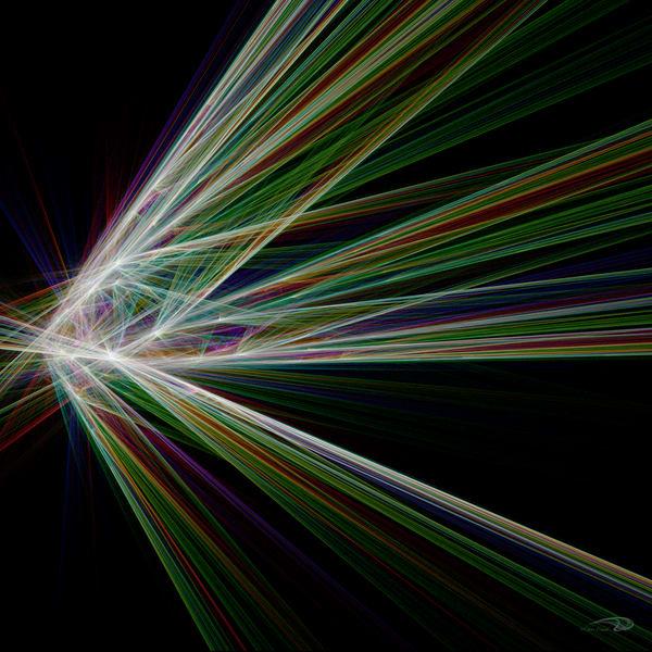 Axis Shift multi-colored streak digital art by Cheri Freund
