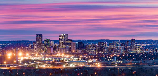 Shop for Fine Art Cityscape Photographs of Denver Colorado | Denver comes to life with these beautiful Panoramic views of the the gateway city into the Rocky Mountains