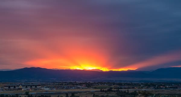 Vivid Sunset Photo of The Colorado Front Range Mountains