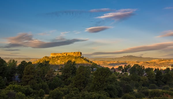 Warm Colors of Summer Morning Sunrise Castle Rock Colorado Prints