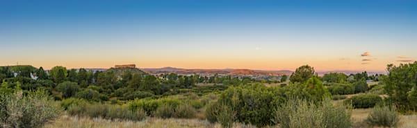 Panoramic Sunrise Photo of Castle Rock Colorado