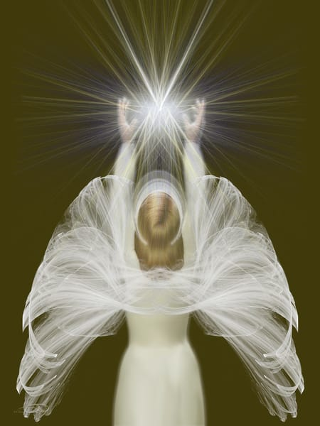 Angel Of Light digital art by Cheri Freund
