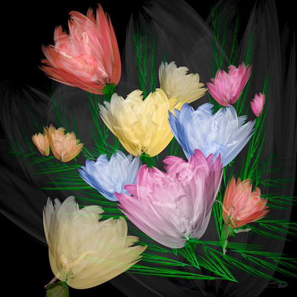 Dancing Bouquet digital art by Cheri Freund