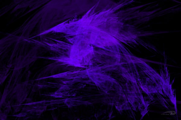 Purpleness frosty digital art by Cheri Freund
