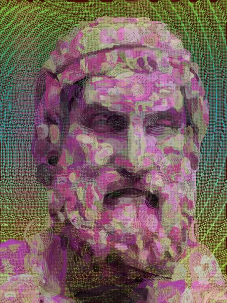 Sophocles Purple Art Canvas