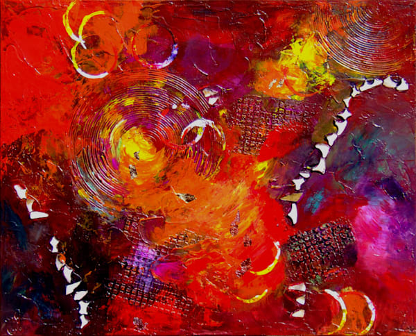 Mars travel (ii) - Original Acrylic Mixed Media Painting