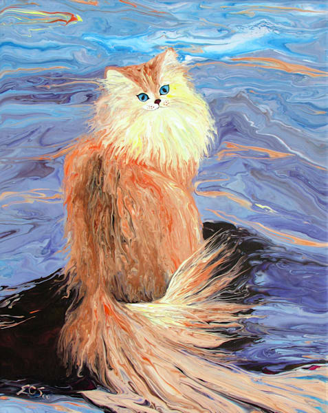 Abstract Cat Art - Pacifism - Original