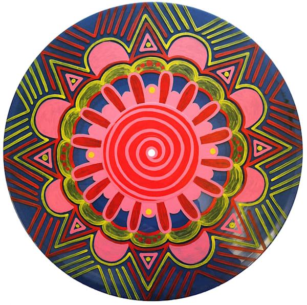 Trance acrylic painting on vinyl
