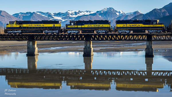 Alaskan train reflection