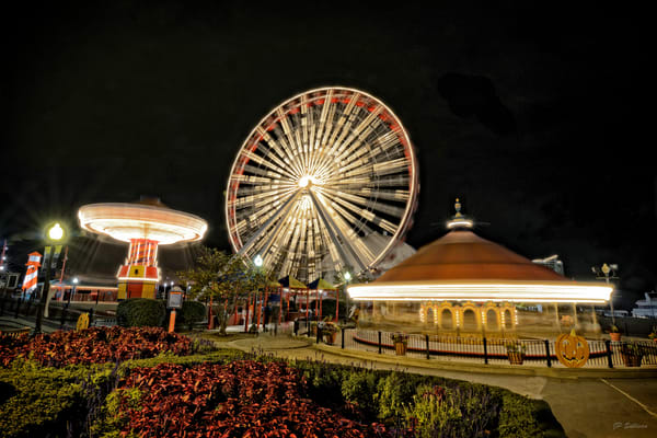 Navy Pier - original ferris wheel - Chicago