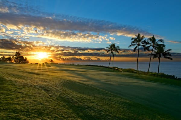 Golfers Dream - Kauai in Hawaii, fine art wall print, art