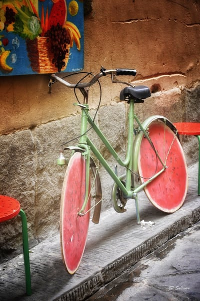 Sweet Ride, Italy watermelon bike