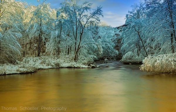 A wonderful display of luminous light after a winter storm clears out in Connecticut's Litchfield Hills. Fine art prints