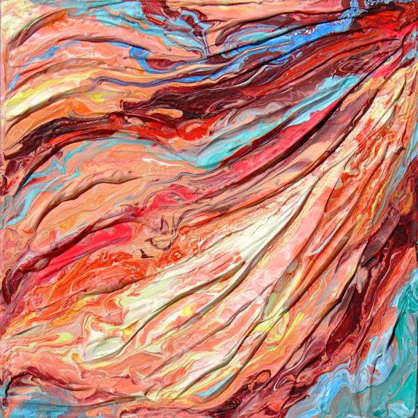Original Abstract Rock Texture Painting - Strata #6